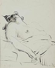 Abel BERTRAM (1871-1954) . «Nu couché». Encre . Signée en bas à gauche . 30 x 25 cm à vue . Experts: OTTAVI - PELLISSON