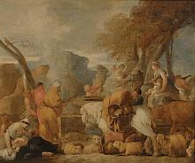 *BOURDON Sébastien (att à) - (1616 - 1671). «joseph et ses frères». 82 x 97 cm