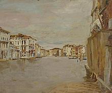 BLANC Charles (1896 - 1966). «Venise». Deux huiles sur toile formant pendant signées en bas à droite et datées 1934. 60 x 73 cm