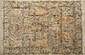 Fin CACHEMIRE en soie naturelle, (Inde). Décor Jardin. 276x185cm