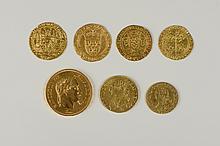 Monnaies françaises. Second Empire (1852-1870) 10 Francs or Napoléon III - tête nue 5 ex - tête laurée 1 ex - Les 6 monnaies. TB à TTB . Expert: T. PARSY