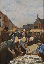 *PIET Fernand (1869 - 1942). «les bretonnes». Huile sur carton. 73.5 x 52 cm. N° 145 de la vente de l'atelier