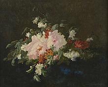 CASTEX-DEGRANGE (né en 1840). «bouquet de fleurs». Huile sur toile.. Signée en bas à droite. 65 x 81 cm
