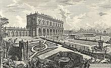 PIRANESE (d'après). «la villa dellEMO au Cardinal Albani». Gravure en noir et blanc. 45 x 70 à vue