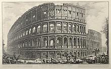 PIRANESE (d'après). «vue du Colisée ». Gravure en noir et blanc. 43 x 69 cm à vue