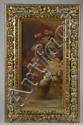 STROMERGER.  « vase de fleurs ». Deux toiles formant pendant signées et datées 1896 en bas. Cadre en bois sculpté doré ajouré. 63 x 32 cm. /54