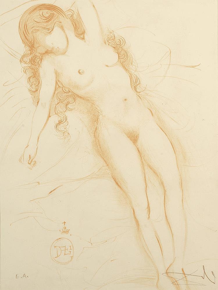 «Nu féminin allongée». Lithographie, épreuve d'artiste, signée en bas à droite au crayon. 60 X 45.