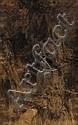 Théobald CHARTRAN. (Besançon 1849 -Neuilly-sur-Seine 1907). Jeune couple admirant un paysage de montagne. Toile. 95 x 60,5 cm. Signé en bas à gauche Chartran. /18