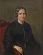 Ecole ITALIENNE vers 1830. «Portrait de femme». Toile. 80 x 66 cm. Expert: R. MILLET.