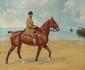 André MARCHAND. «Amazone sur la plage». Toile signée et datée 1928 en bas à droite. 45.5 x 81.5 cm