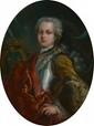 Ecole Française XVIIIème. Portraits présumés de LOUIS XV et de Marie LEZINSKA. Deux toiles ovales formant pendant . 51 x 39 cm