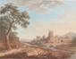 Ecole Française fin XVIIIème. «paysage animé». Deux gouaches formant pendant. 17 x 22 cm à vue. /8