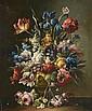 Ecole FRANCAISE du XXème siècle. «Bouquets de fleurs». Paire de toiles, sur leurs toiles d'origines. 55 x 46 cm. Expert: R. MILLET.