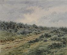 A MOLLIER (Actif vers 1920) .   Paysage.   Paire d'aquarelles .   Chaque signée .   48 x 59 cm à vue - 45 x 57 cm à vue .