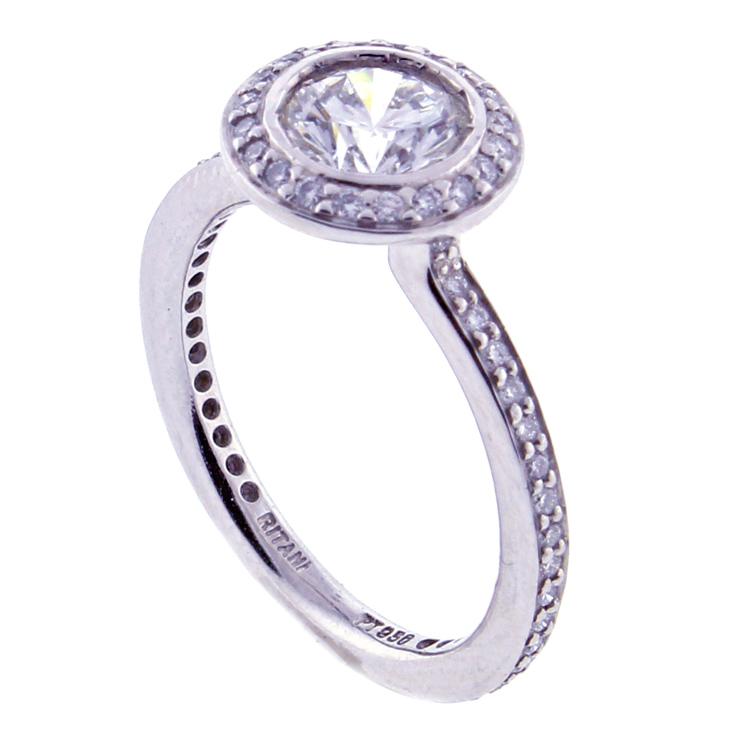 ritani leo and platinum halo ring