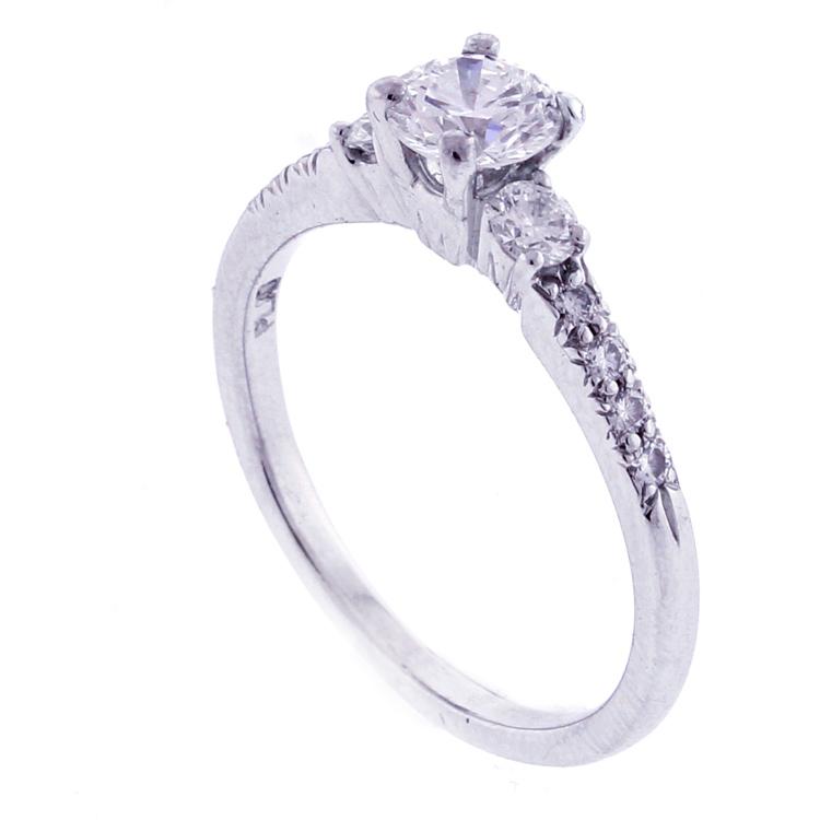 and platinum engagement ring