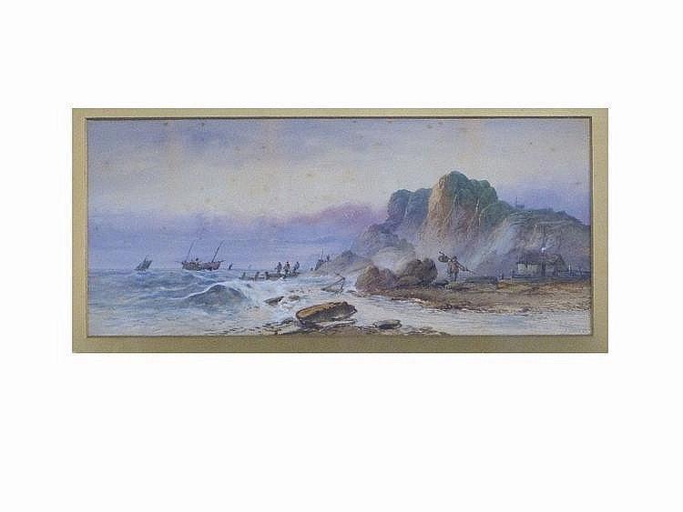 Lennard Lewis (British, 1826-1913) Fishermen and