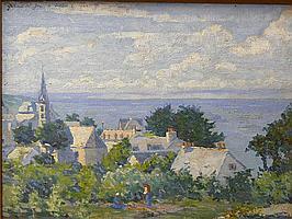 Garnet W. Jex (American, 1895-1979) Village in a