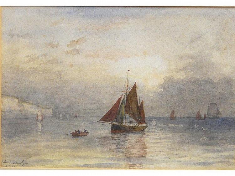 John Ballantyne (British, 1815-1897) Sailing Ships