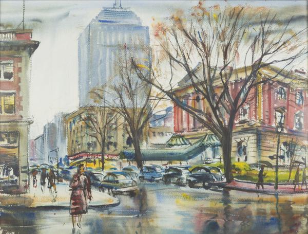 Charles Demetropoulos, [Newbury Street, Bonwit Teller], c.1950