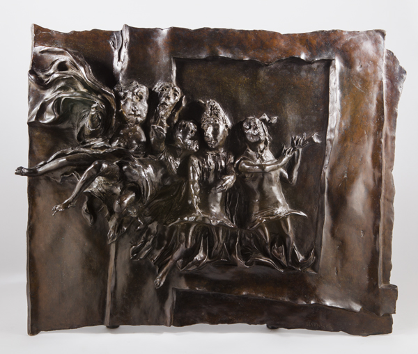 David Aronson, Angel Choir, Panel from The Door, 1963-1969