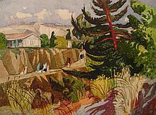 Millard Sheets, Los Cerritos, San Juan Capistrano, 1953