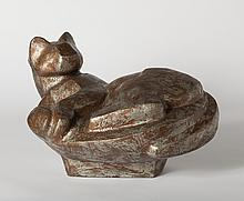 Dudley Vaill Talcott, Large Cat Curled Up