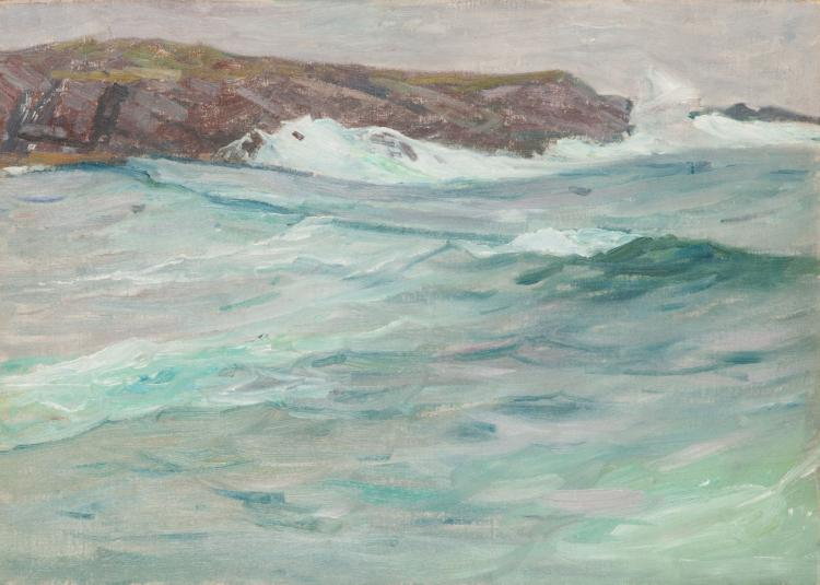 Charles Woodbury, Surf at Ogunquit, Maine [Early Ocean Attempt], 1899