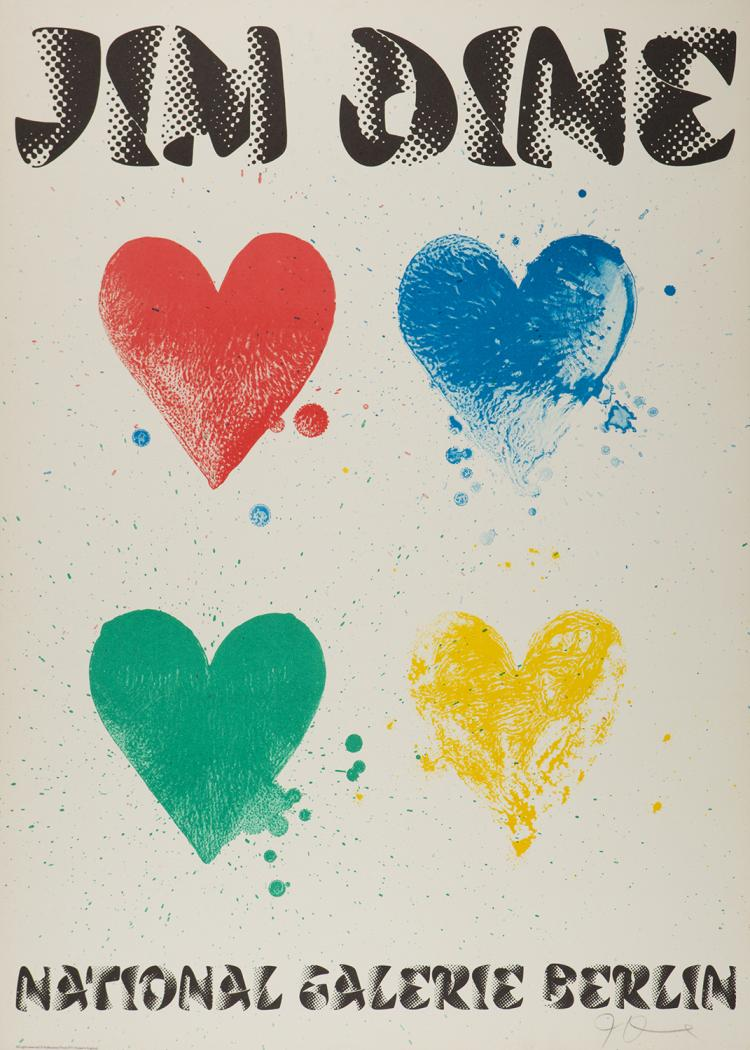 Jim Dine, National Gallerie Berlin Exhibition Poster, 1971