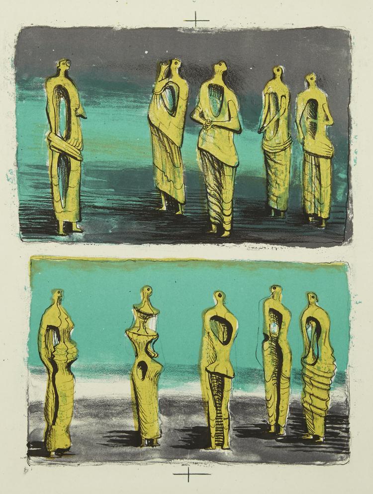 Henry Moore, Standing Figures, 1950