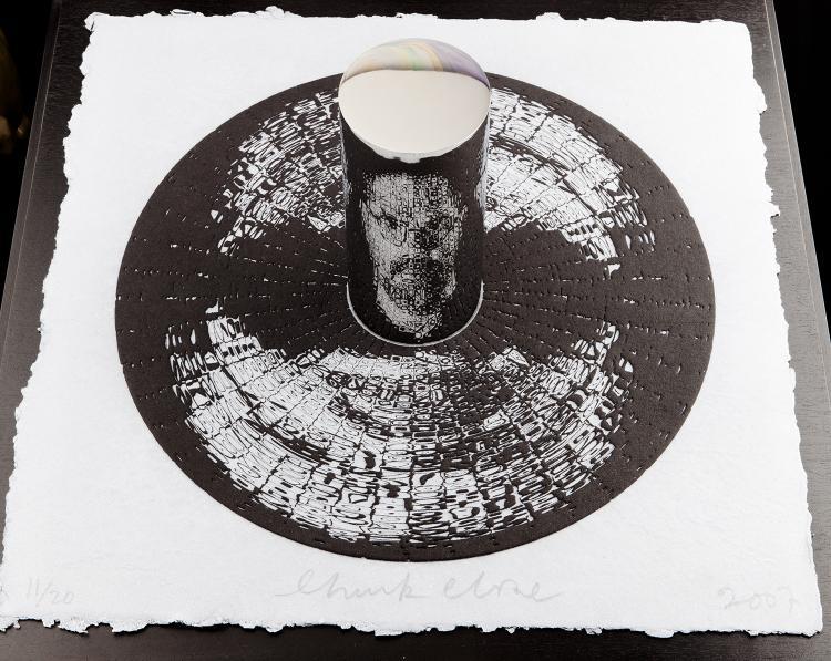 Chuck Close, Self-Portrait (anamorphic), 2007