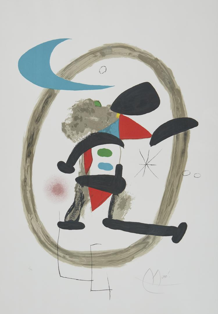 Joan Miro, Arlequin Circonscrit, 1973