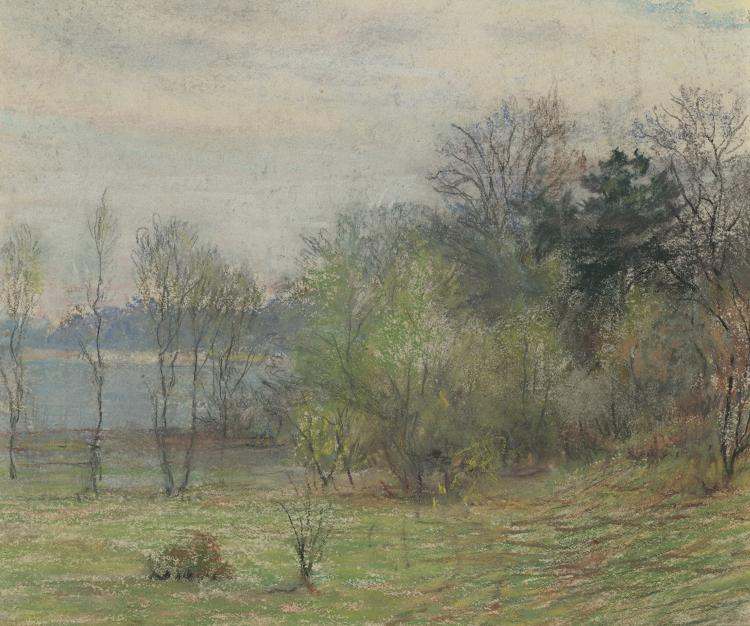 William Partridge Burpee, Wooded Landscape with Pond