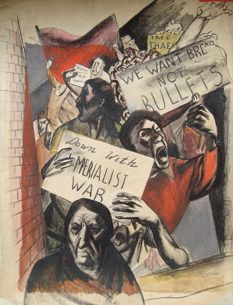 Seymour Fogel, We Want Bread Not Bullets, 1933
