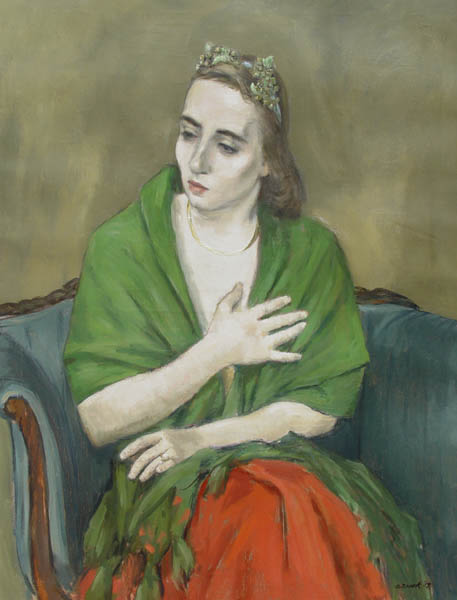 Alexander Brook, A Painting of Adaline Glasheen as a Writer's Muse, 1959