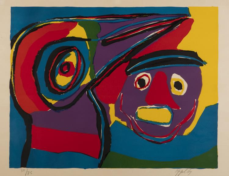 Karel Appel, [Abstract Composition with Face], 1969