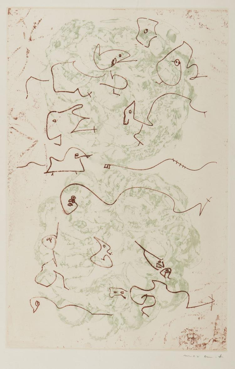 Max Ernst, Plate from Les Chiens Ont Soif, 1964