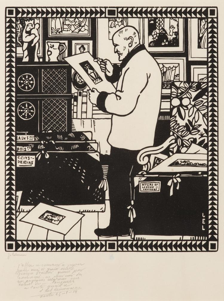 Jean-Emile Laboureur, Le Collectionneur Alphonse Lotz-Brissoneau, 1913