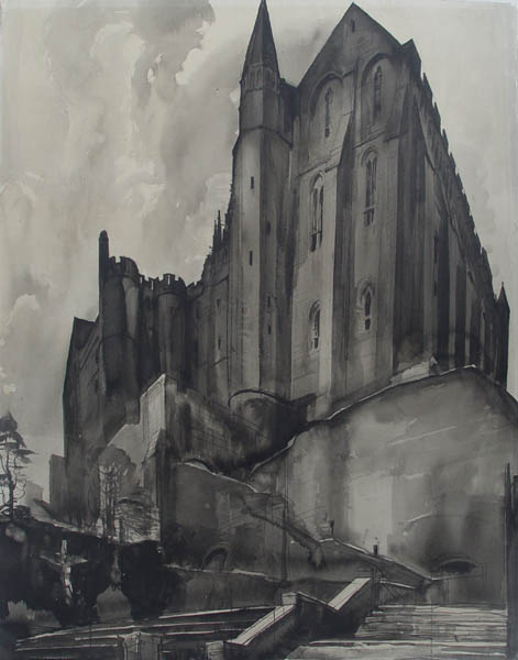 Albert Decaris, La Merveille - Mont St. Michel, 1926