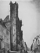 Albert Decaris, Tower of the Maison Carré - Luxeuil, 1926