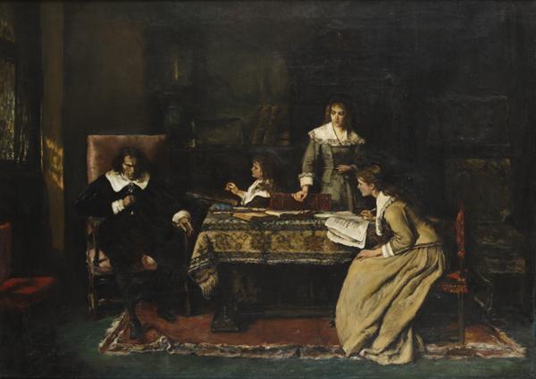 Mihály Munkácsy, The Blind Milton Dictating