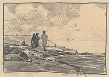 Chauncey Ryder, [Walking on Cape Porpoise, Maine]