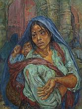 Marion Greenwood, Beggar Woman, or Mexican Madonna, c.1957