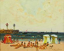 Pierre Boudet, Plage de Trouville, Deauville, 1962