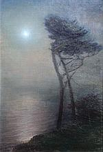 Ferdinand Burgdorff, [Lone Tree in the Moonlight], 1914