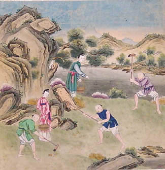 Chinese School, Digging, c.1780
