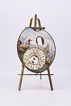 Antique Artist Pallet Shape Clock & Brass Easel