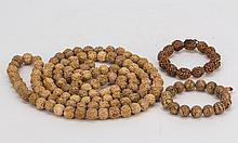 Bodhi and Walnut prayer bead necklace and bracelets