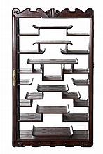 Chinese Hardwood Case with Mirror