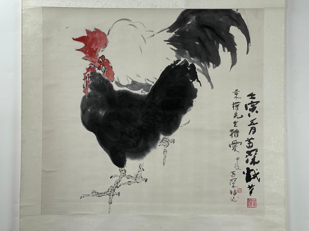 YANG SHANSHEN (1913-2004) Roosters